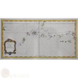 Alderney Aurigny Guernsey Chanel Island engraving 1760