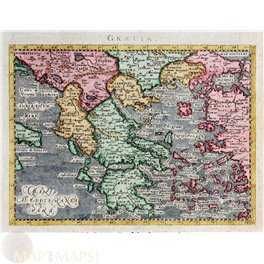 Greece and other Islands map Maginus/Ptolemaeus 1621
