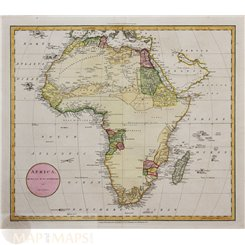 Africa Old Map Kingdoms Africa by J Russell 1801