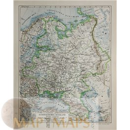 France detailed map inlay Corsica Antique map 1892