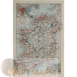 Ireland Antique map Irland by Joseph Meyer 1905