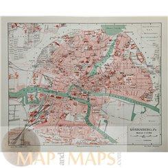 Königsberg Prussia ( Kaliningrad, Russia) Old town plan Joseph Meyer 1905