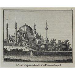 Turkey Constantinople Village antique print Hellfahrt 1832