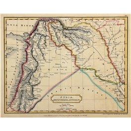 1821 antique map Syria, Mesopotamia, Assyria by Longman
