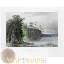 Nicaragua San Juan river, Antique Prints Meyer 1850