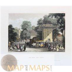 Turkey Goksu River Valley Silifke Old print Meyer 1840