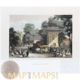 Goksu River Valley, Silifke Antique print Turkey 1840