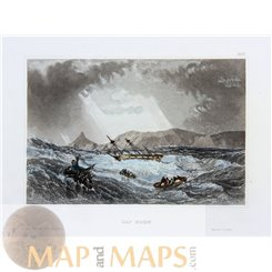 Chile Cape Horn Old print Hornos Island by Meyers 1840