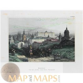 Spain Madrid Antique Print by Meyer 1852