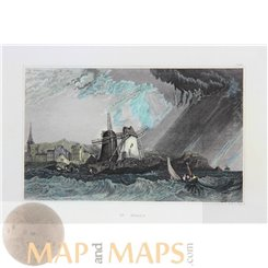 France Saint-Malo Fine Antique Print by Meyer 1850