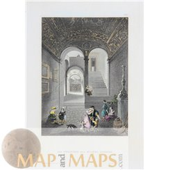 Italy Prints The home of Michelangelo by Meyer 1850