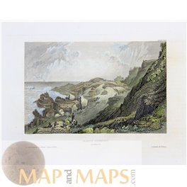 Ireland old fine prints Giant's Causeway by Meyer1850