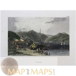 ANTIQUE PRINT GREECE ITHACA OR ITHAKA BY MEYERS 1852