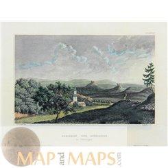 Mühlberg, Gleichen Castle, Thuringia old print Meijers 1850
