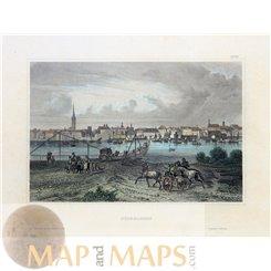 Germany vintage prints of Dusseldorf by Joseph Meyer 1856