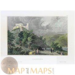 Germany Falkenberg Elster Old village print by Meyer 1840