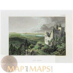 Germany Burg Baden Castle old print Badenweiler Meyer 1850