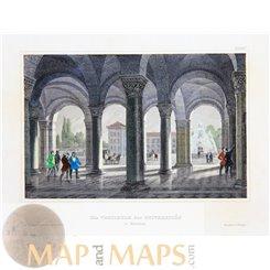 Germany prints,The University Munich by Joseph Meyer 1852