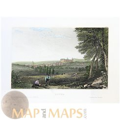Germany early prints of Gotha Thuringia by Meyer 1850