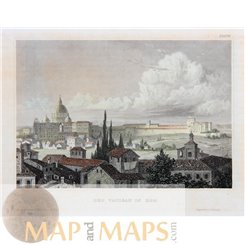 Italy antique Prints, Venice Vatican City, by Meyer 1860
