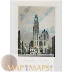 Rotterdam Old Prints, St. Laurence Cathedral Balmer 1840