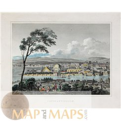 Constantinople Istanbul old print BY Th. Kelly 1834