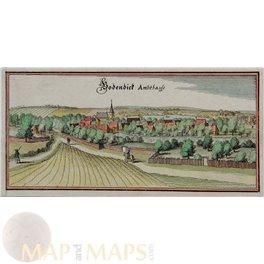 Bad Bodenteich Niedersachsen Historic town view Merian 1656