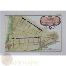 Germany Battle plan Camp de Betmar (Bettmar) Schley 1757