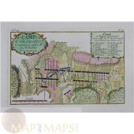 Germany Battle Plan Camp D' Holsenstein Jacob Schley 1760