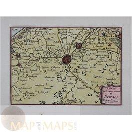 Belgium Fortress map, De Bruges Flanders de Beaulieu 1688