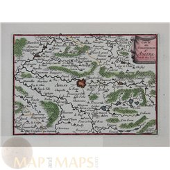 1688 map Nord Pas de Calais, Avesnes France by Beaulieu