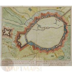 Brussel in Brabant aan de Senne Belgium antique plan Schenk 1712