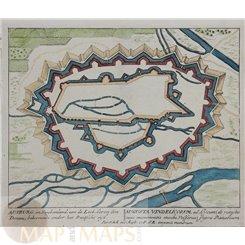 Germany Augsburg Antique town plan/map Schenck 1710