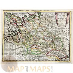 Russia Old Maps Moscow Grand Duc De Moscovie Chiquet 1719