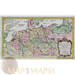 Germany Prussia Poland antique map Anonymous c1760