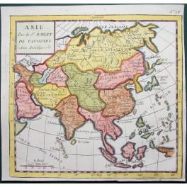 Asia Korea Japan Asie antique map Vaugondy 1750