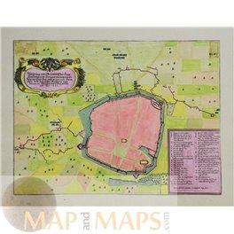 1647 Merian plan, WEISSENBURG BAYERN, Germany.