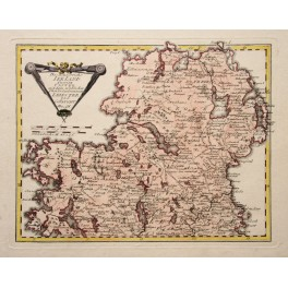 North Ireland Ulster Ulaidh antique map by Reilly 1791