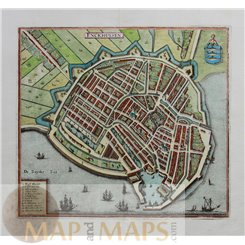 Enckhuysen – Enkhuizen old map Holland by Merian 1638