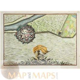 SAS VAN GENT Holland Antique map de Mornas 1750
