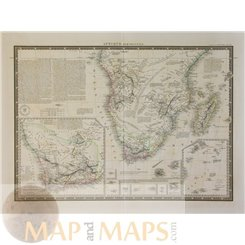 South Africa Old Maps, Afrique Meridionale by Piquet 1838