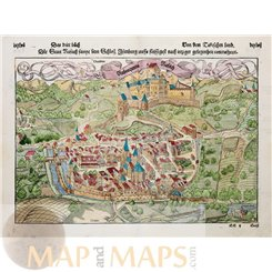 France Rouffach Chateau Isenbourg Woodcut Seb Munster 1548