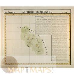 Marquesas Islands Archipel de Mendana Vandermaelen 1827 | Mapandmaps