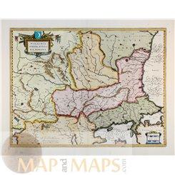 Walachia Servia Bulgaria Rio Romenia by Blaeu 1649   Mapandmaps