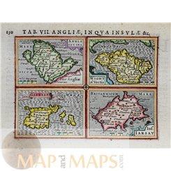 Tab VII Angliae in Qua Insulae - Hondius/Bertius 1616 - MAPandMAPS