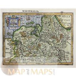 Westphalia - East Frisian – Mercator 1628 - MAPandMAPS