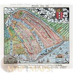 Amsterdam, Holland Sebastian Münster 1544 | MAPandMAPS
