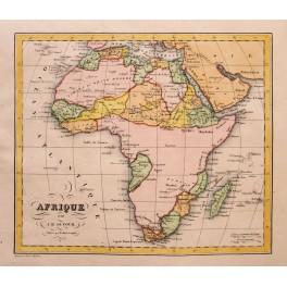 Africa Congo Sahara Egypt antique map Dufour 1828