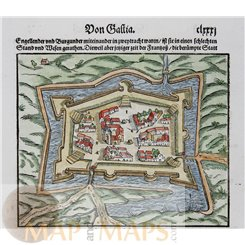 Djerba Tunisia Fort Ghazi Mustapha Sebastian Münster 1544   MAPandMAPS