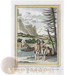 Patagonia peopleSouth America print Old print Bellin 1752